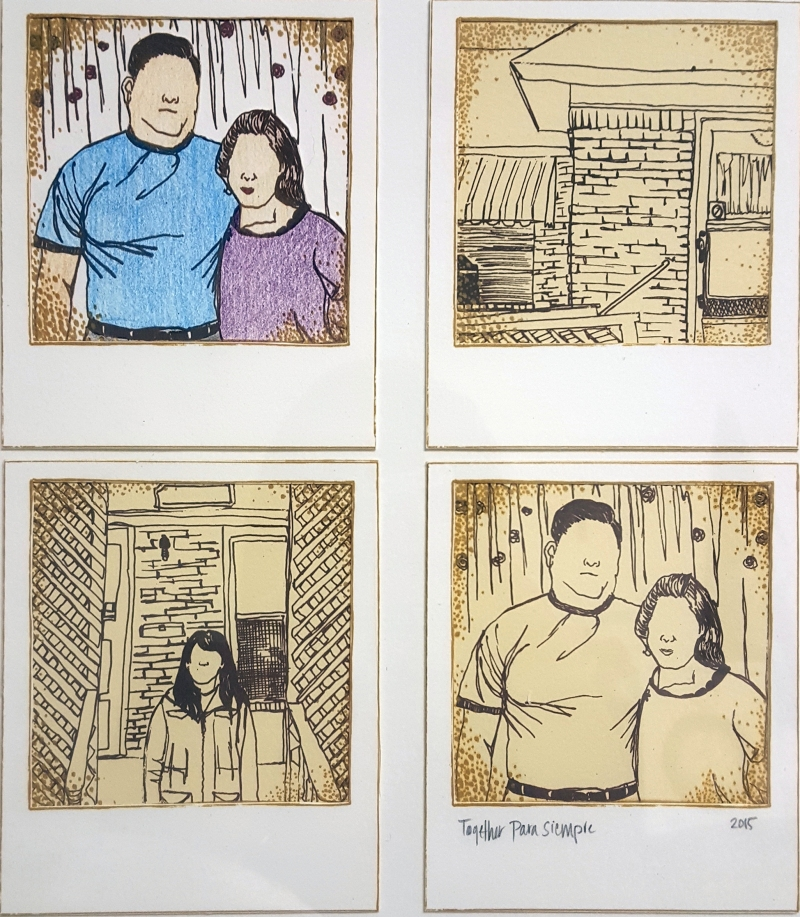 4 images polaroid